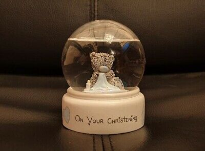 £12 • Buy Boxed - On Your Christening Snow Globe - Me To You Bears - Blue Blanket