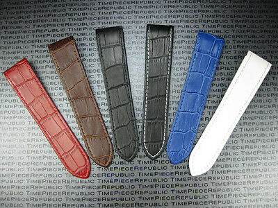 24.5mm Leather Strap Large Watch Band For Fits CARTIER SANTOS 100 XL Chronograph • 33.02£