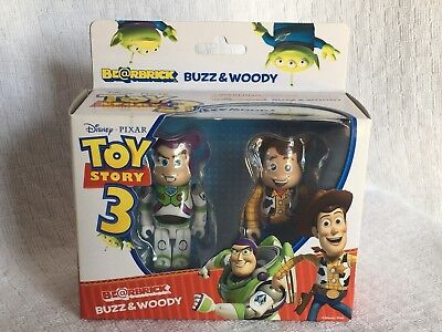 $174.99 • Buy Medicom Bearbrick Be@rbrick 100% Toy Story 3 Woody Buzz Lightyear