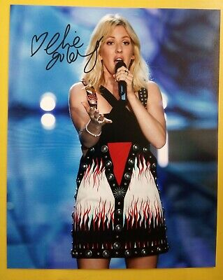 ELLIE GOULDING Hand Signed 10 X 8 Photo Autograph Singer Songwriter FREE POSTAGE • 29.99£