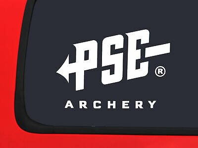 $6.49 • Buy PSE Archery Logo White Bowhunting Window Decal Sticker