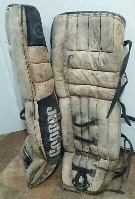$29.99 • Buy Vintage COOPER Hockey Goalie Leg Pads BROWN GP95 XL Super Pro Water Damage