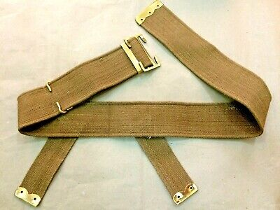 WWI BRITISH P08 WEB BELT (3  Inches Wide) - REPRODUCTION • 34.37£