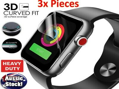 AU7.98 • Buy 3x Apple Watch 6 5 4 44 & 40mm Series 6 5 4 HYDROGEL Full Cover Screen Protector