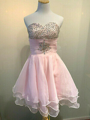 £50.70 • Buy Teen Dress Formal Pageant Party Wedding Bridesmaid Prom Gown Pink Ship Fast USA