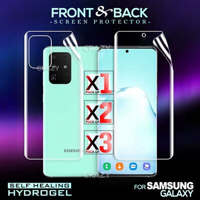 AU5.99 • Buy For Samsung Galaxy S20 Ultra S10 Plus S10e S8 S9+ Plus Hydrogel Screen Protector