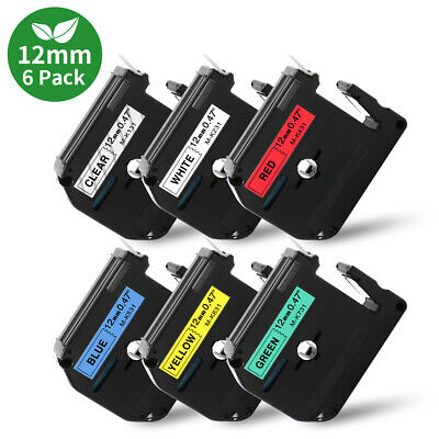 $8.69 • Buy 4PK M-K231 M231 Fit Brother P-Touch M Tape 12mm White Label Maker PT-70 PT-80 90