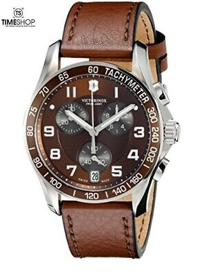 £215.16 • Buy Victorinox Swiss Army Chrono Classic Stainless Steel Watch Brown Leather 241498