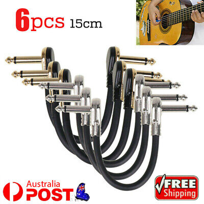 AU24.51 • Buy Low Noise Guitar Effect Pedal Board Patch Cable Leads Cord Right Angle Plug 15cm