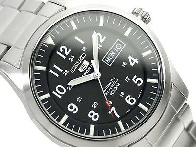 $ CDN186.36 • Buy SEIKO 5 SNZG13 SNZG13K1 Automatic Army Military Black Free Ship !