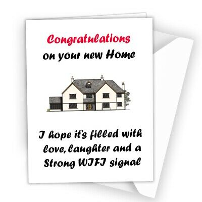 NEW HOME CARD Rude Funny Congratulations Moving House New Neighbours 212 • 2.49£