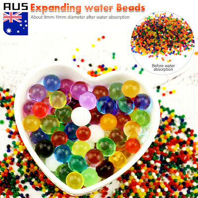 AU5.59 • Buy 10000 -100000PCS Crystal Water Balls Jelly Gel Beads For Vases Orbeez MultiColor