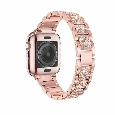 $ CDN25.37 • Buy Lelong Apple Watch Band 38/40mm Series 5 4 3 2 1 With Case Rhinestoned Rose Gold