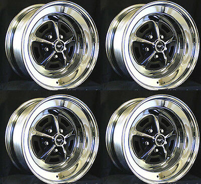 $819.99 • Buy New! Mustang Magnum 500 Wheels 14  X 6  Set Of Complete W/ Caps And Lug Nuts