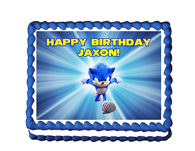 $8 • Buy SONIC Edible Image Birthday Cake Topper Decoration Frosting Sheet THE HEDGEHOG