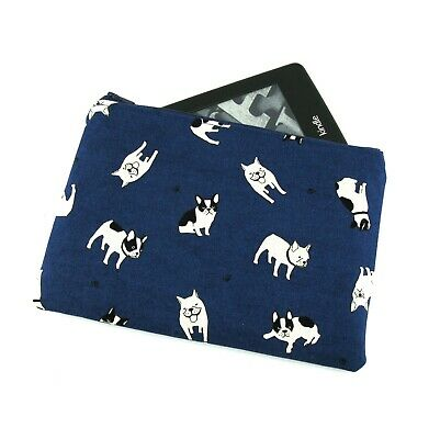 AU26 • Buy Navy Boston Terrier Kindle Padded E-Reader Case, Paperwhite Sleeve, Amazon Oasis