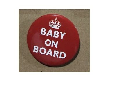 £1.25 • Buy Baby On Board   BUTTON PIN BADGE 38 Mm 1.5 INCH Pregnant London Red