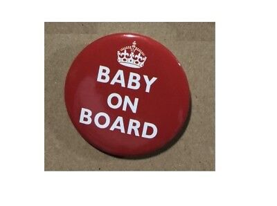 Baby On Board   BUTTON PIN BADGE 38mm 1.5 INCH Pregnant London Red • 1.99£