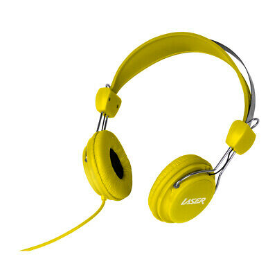 AU9.95 • Buy NEW Laser Headphones Stereo Kids Friendly Colourful Yellow