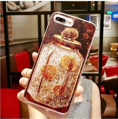 AU4 • Buy For OPPO A73 Bear Quicksand Glitter Cover Case High Quality