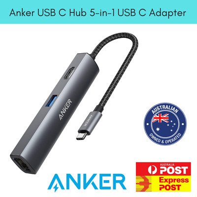 AU129.95 • Buy Anker USB C Hub [Upgraded], 5-in-1 USB C Adapter With 4K USB C To HDMI, Ethernet