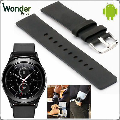 £1.99 • Buy Pebble® Genuine Leather Watch Strap Replacement Band 20mm For Samsung Gear S2 UK