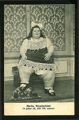 $ CDN70.68 • Buy German 1910 HERTA Wunderkind FAT LADY 500 Pounds CIRCUS Sideshow ~ VASTA Archive