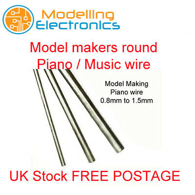 £1.89 • Buy Piano Wire Music Wire Steel Round 0.8mm, 1mm, 1.2mm, 1.5mm, Upto Lengths 450mm