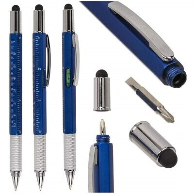 6 In 1 Multi Tool Pen Present Spirit Level Screwdriver Ruler Gadget Mens Gift • 3.49£