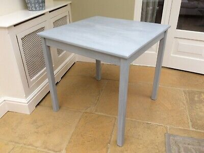 Annie Sloan Chalk Painted Grey Square Table 75X 75 CM • 35£