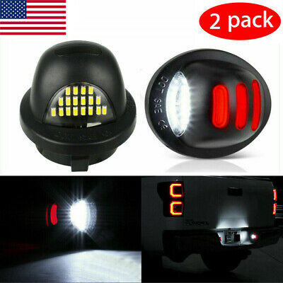 $11.99 • Buy 2x LED License Plate Light Assembly Replacemen For Ford F150 F250 F350 1990-2014