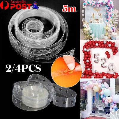 AU3.28 • Buy 5M Balloon Decorate Strip Arch Garland Connect Chain DIY Tape Party Bar Decor AU