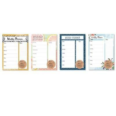 A4 Weekly Planner To Do List Desk Notepad Meal Plan Home Office Tear Off Sheets • 2.49£