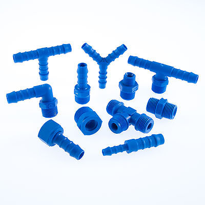 Nylon Barbed Silicone Hose Connector Joiner TEFEN Fuel Pipe Water • 2.64£