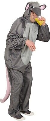 £37.99 • Buy Mens Ladies Grey Mouse Rat Rodent Animal Festival Fancy Dress Costume Outfit