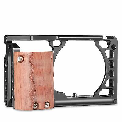 $ CDN57.35 • Buy SmallRig Camera Cage For Sony A6000 A6300 With Wooden Grip & Cold Shoe Mount