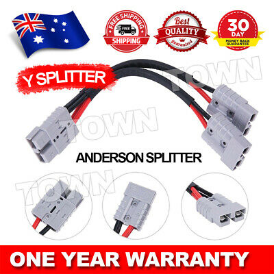 AU15.85 • Buy 50 Amp Genuine Anderson Plug Connector Double Y Adaptor 6mm Automotive Cable