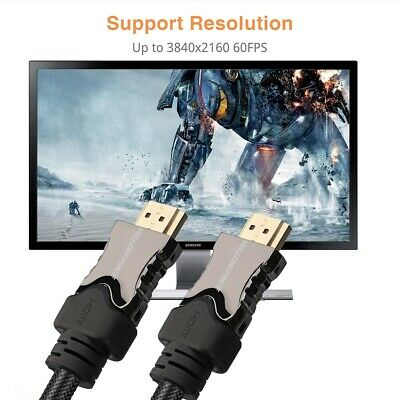AU35.14 • Buy Fiber HDMI Cable, 3M 8K@60HZ HDR HDMI 2.1 Fiber Optical Long Cord, Braided Lot