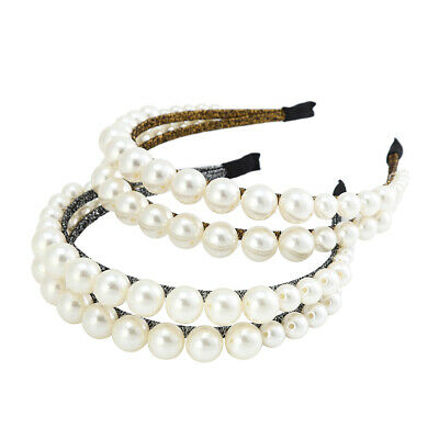$ CDN5.89 • Buy Women's Pearl Headband Hairband Crystal Hair Band Hoop Accessories Wedding Party