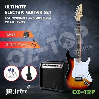 AU159.29 • Buy Melodic Electric Guitar Music String Instrument Rock Amplifier Guitar Bag Tuner