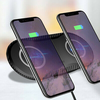 AU17.92 • Buy AU Qi Wireless Charger Dual Phone Charging Mat Pad For IPhone XS 8Plus 11 11Pro