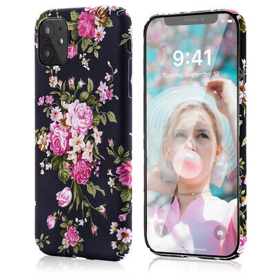 AU15.99 • Buy IPhone 11 Case For Girls, Slim Fit Full-Around Protective Floral Chic Phone Case