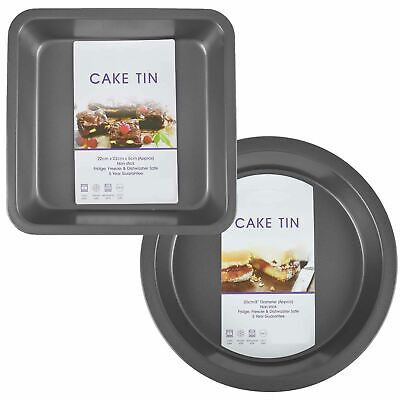 £5.99 • Buy Large Cake Tins Deep Baking Tray Carbon Steel Non Stick Oven Dish Kitchenware