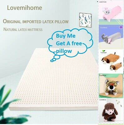 Natural Latex Soft Comfortable Mattress Topper Unique Healthy Sleep Breathable • 214.99£