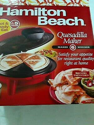 $29.89 • Buy Hamilton Beach 25409 Quesadilla Maker - Red