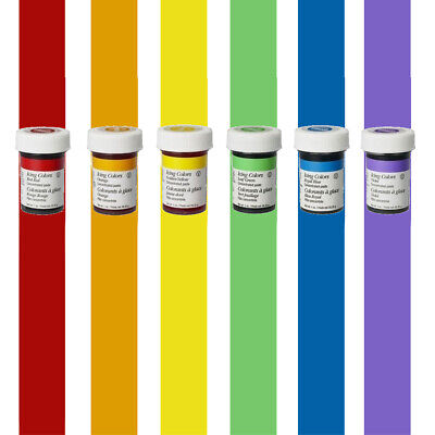 Wilton Concentrated Icing Gel Paste For Baking Cake Decorating 6x Rainbow Color • 10.22£