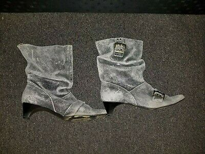 $25 • Buy NaNa Leather Boots Women Size 9 Gray Vintage Shoes Booties