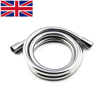 1.5M Long Silver Durable PVC Flexible Shower Compatibility Hose Brass Connectors • 8.79£