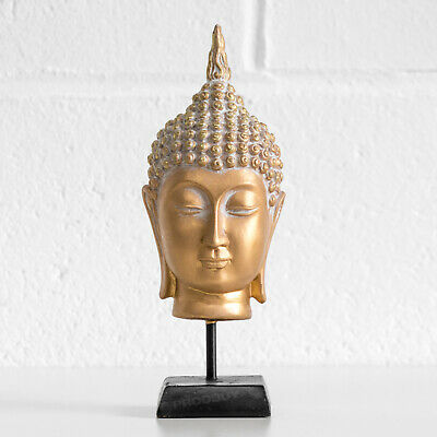 Free-standing Gold Thai Buddha Head Ornament Statue Figurine Figure Sculpture  • 15.99£