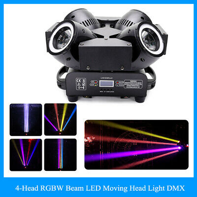 4-Heads 200W RGBW LED Moving Head Light DMX Beam Disco Party Show Stage Lighting • 255.69£